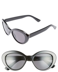 50mm Vintage Cat Eye Sunglasses Black