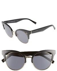 Marc Jacobs 51mm Gradient Lens Cat Eye Sunglasses Opal Burgundy