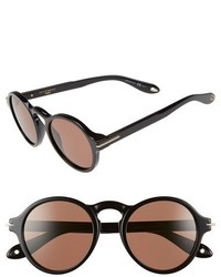 Givenchy 51mm Round Sunglasses Black