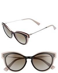Valentino 51mm Sunglasses Black Crystal