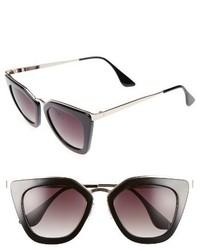 52mm Cat Eye Sunglasses Black Gold