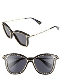 Marc Jacobs 52mm Cat Eye Sunglasses Black