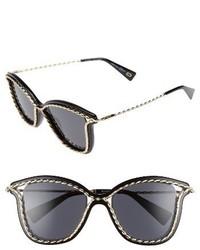 Marc Jacobs 52mm Cat Eye Sunglasses Black