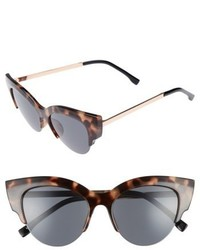 52mm Cat Eye Sunglasses Marble Black