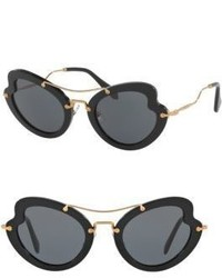 Miu Miu 52mm Curved Cat Eye Sunglasses