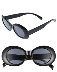 52mm Oval Sunglasses Black