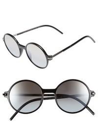 Marc Jacobs 52mm Round Sunglasses Havana Blue Pink
