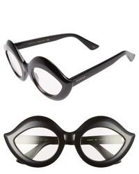 Gucci 53mm Cat Eye Sunglasses Black Clear