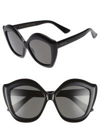 Gucci 53mm Cat Eye Sunglasses Black Grey
