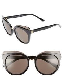 Tory Burch 53mm Cat Eye Sunglasses Black