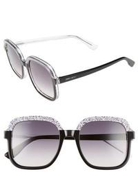 Jimmy Choo 53mm Glitter Frame Sunglasses Black Glitter Grey
