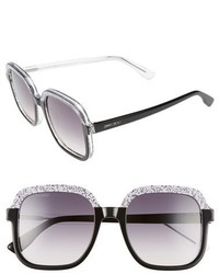 Jimmy Choo 53mm Glitter Frame Sunglasses Blue Glitter Crystal