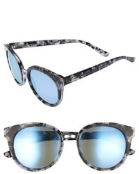 Tory Burch 53mm Polarized Sunglasses Black Blue