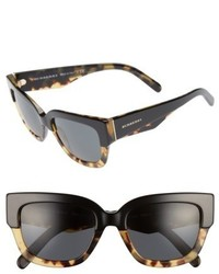 Burberry 53mm Sunglasses Black Havana