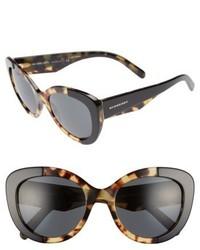 Burberry 54mm Butterfly Sunglasses Black Havana