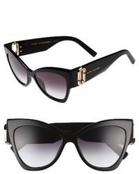 Marc Jacobs 54mm Cat Eye Sunglasses Black