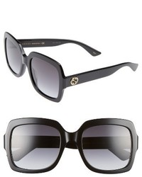 Gucci 54mm Square Sunglasses Black Grey