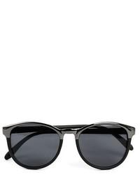 Topman 54mm Squared Edge Sunglasses Black