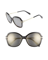 Polaroid 55mm Cutout Round Polarized Sunglasses