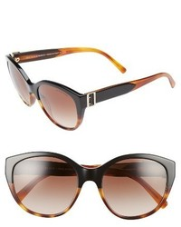 Burberry 55mm Gradient Cat Eye Sunglasses Black