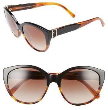 73f5084356e ... Burberry 55mm Gradient Cat Eye Sunglasses Black ...