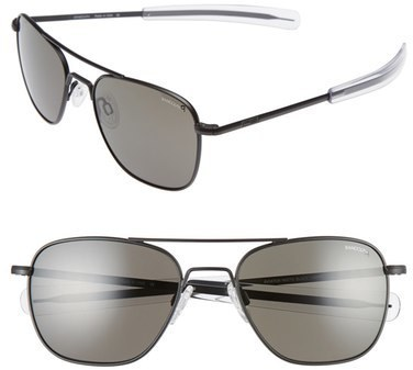 Randolph Engineering 55mm Polarized Aviator Sunglasses