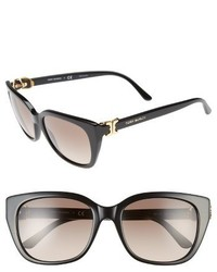 Tory Burch 56mm Cat Eye Sunglasses Black