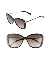 Longchamp 56mm Gradient Lens Butterfly Sunglasses