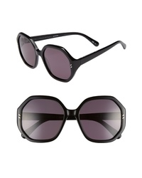 Stella McCartney 56mm Hexagonal Sunglasses