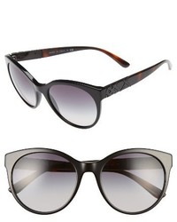 Burberry 56mm Retro Sunglasses Black