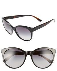 Burberry 56mm Retro Sunglasses Black
