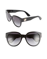 Moschino 56mm Round Sunglasses