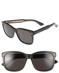 Gucci 56mm Sunglasses Black Grey