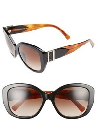 Burberry 57mm Gradient Butterfly Sunglasses Brown Grey