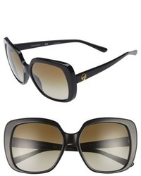 Tory Burch 57mm Gradient Sunglasses Black