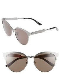 Gucci 57mm Retro Sunglasses Black Grey