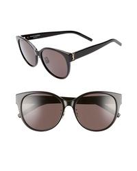 Saint Laurent 57mm Round Sunglasses