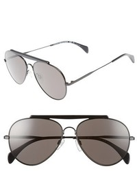 Tommy Hilfiger 58mm Aviator Sunglasses Shiny Black