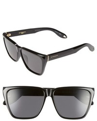 Givenchy 58mm Flat Top Sunglasses Black Grey