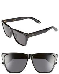 Givenchy 58mm Flat Top Sunglasses Black Grey