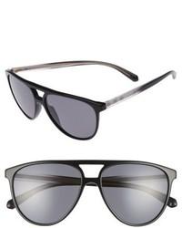 Burberry 58mm Polarized Aviator Sunglasses Black Polar