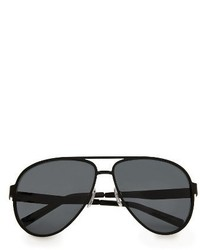 Topman 59mm Aviator Sunglasses Black