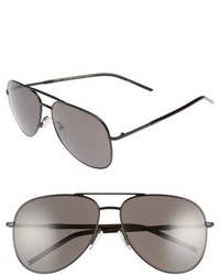 Marc Jacobs 59mm Gradient Polarized Aviator Sunglasses Black Polar