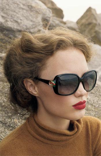 12227806421cb Gucci 59mm Oversized Square Sunglasses