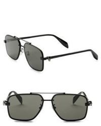 Alexander McQueen 60mm Modified Rectangle Sunglasses