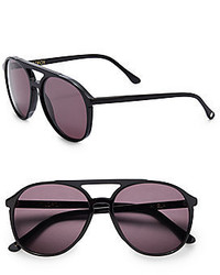 Wildfox Couture 60mm Round Aviator Sunglasses