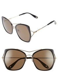 Givenchy 7031s Airy 55mm Oversized Sunglasses Black Gold