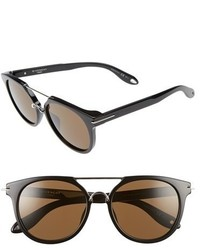 Givenchy 7034s 54mm Round Sunglasses Black