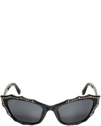 Agent Provocateur Cat Eye Studded Acetate Sunglasses