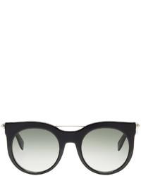 Alexander McQueen Black Round Gradient Sunglasses